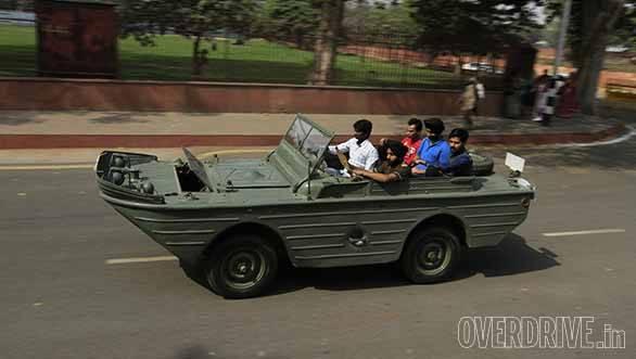 A war model amphibian vehicle