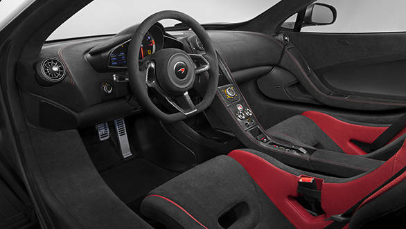 The purposeful driver-focused cabin of the 675LT gives even further indication of track potential.