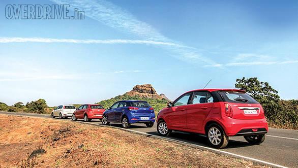 Tata Bolt vs Hyundai Elite i20 vs Fiat Punto Evo vs Volkswagen Polo (7)