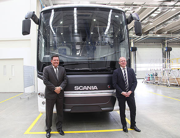Anders Grundströmer, managing director, Scania India and senior vice president, Scania Group with Martin Lundstedt, president and CEO, Scania Global at the plant inauguration