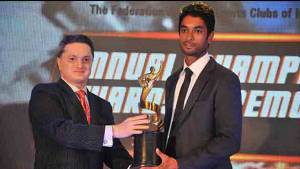 C S Santosh receives FMSCI's Motor Sport Man of the Year award