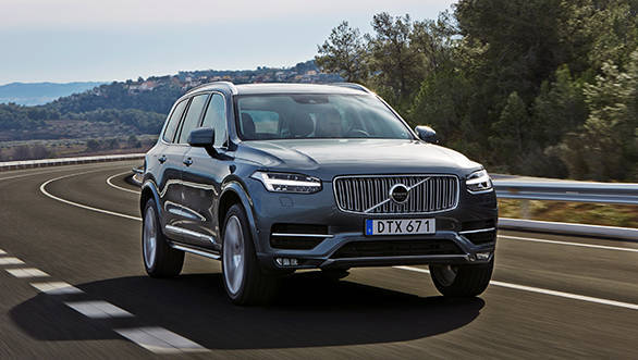 The new Volvo XC90 with the T6 engine driven in Tarragona, Spain.