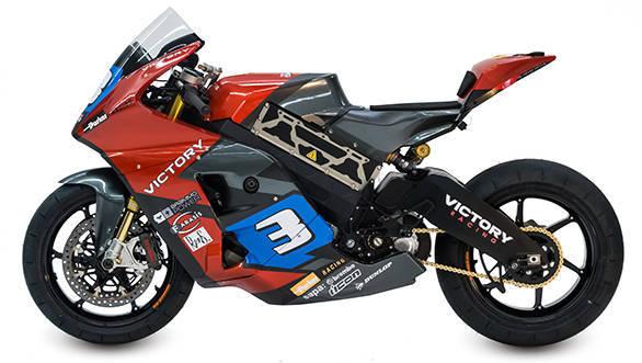 The Victory Racing Isle of Man TT race bike.