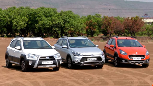 Hyundai i20 Active vs Fiat Avventura vs Toyota Etios Cross comparison review by OVERDRIVE - Video