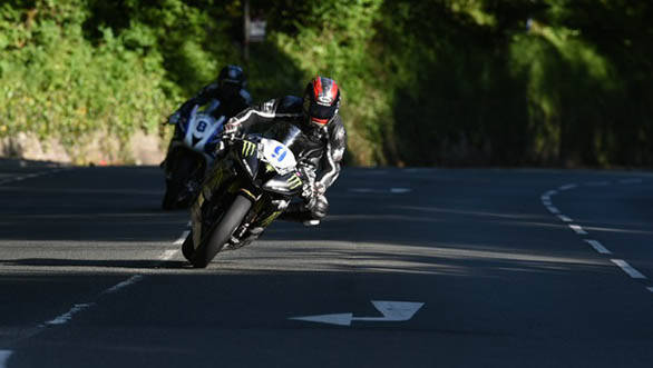 WIn in the Supersport TT went to Ian Hutchinson