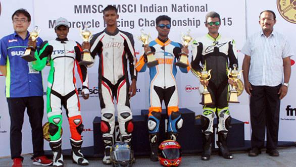 Kannan Karnan (2nd from left), Yashwin Kumar R, Mathana Kumar S and Vishwadev Muraleedharan