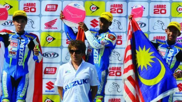 Jagan Kumar took a fine first place at the Sentul Round of the Suzuki Asian Challenge