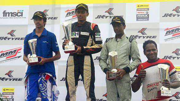 The Junior Max category's podium