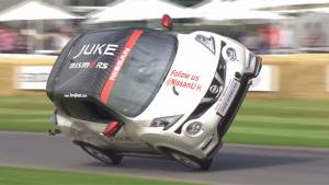 Goodwood Festival of Speed 2015: Terry Grant breaks world record for driving on two wheels