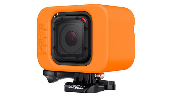 The redesigned floatie is now smaller so it can accomodate the more compact Hero4 Session camera