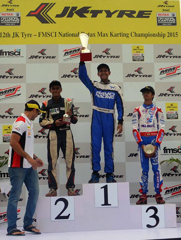 The Junior Category podium