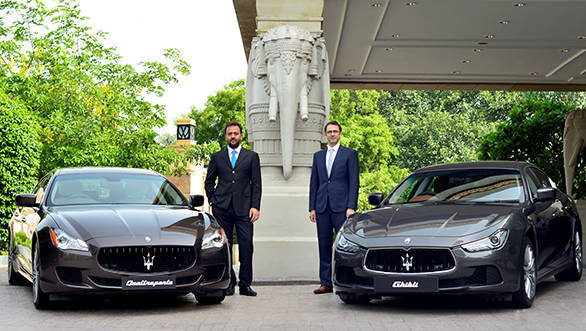 Mr Umberto Maria Cini, Managing Director for Maserati Middle East, Inia and Africa and Mr Bojan Jankulovski, Head of Operations for India (1)