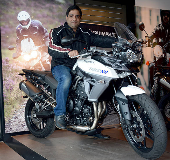 Vimal Sumbly, MD, Triumph India with the new Tiger XR