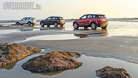 Range Rover evoque vs Audi Q5 vs BMW X3 (21)
