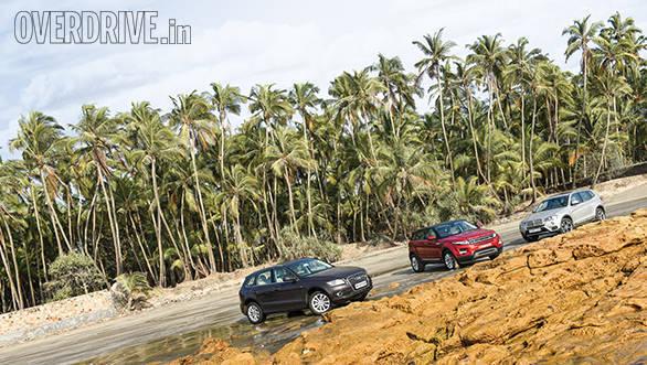Range Rover evoque vs Audi Q5 vs BMW X3 (6)