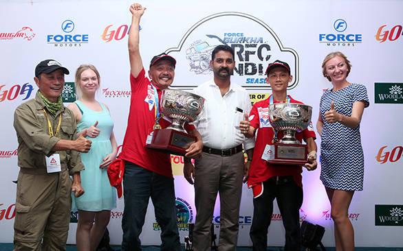 Winners of the 2015 Force Gurkha RFC, Tan Eng Joo and Tan Choon Hong