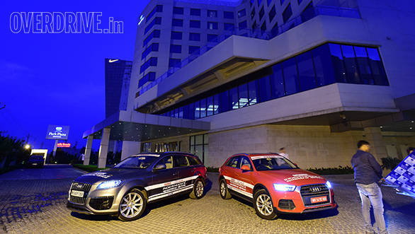 The Audi SUVs, ready for the journey