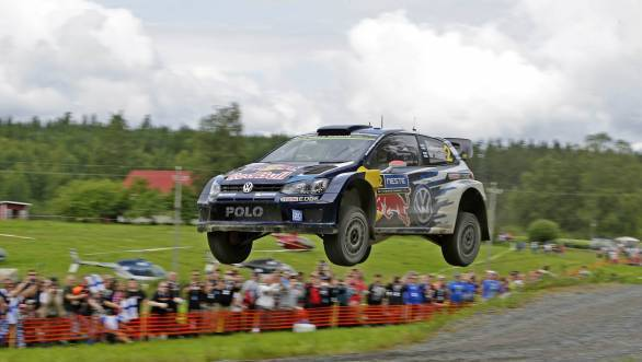 Jari-Matti Latvala yumps his way to a third win at his home rally. He's second in the WRC standings, now!