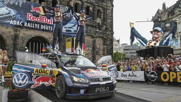 Sixth win of 2015 for Sebastien Ogier in the World Rally Championship