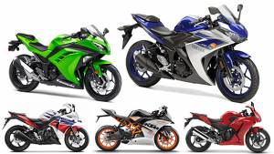 Spec comparison: Yamaha YZF-R3 vs Honda CBR300R vs Honda CBR250R vs KTM RC 390 vs Kawasaki Ninja 300