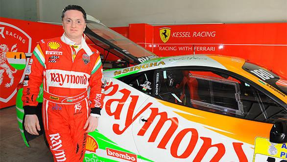 Gautam Singhania Ferrari Challenge 2015 (1)