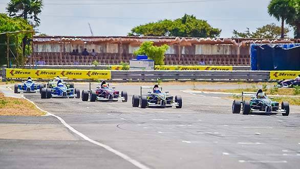JK Racing India Series in action 1