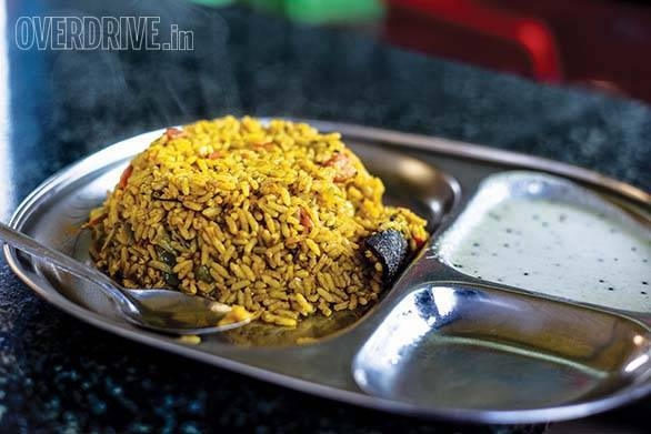 Tomato rice and coconut chutney are also a great way to start the day. Best sampled on the highway to Chickmagalur