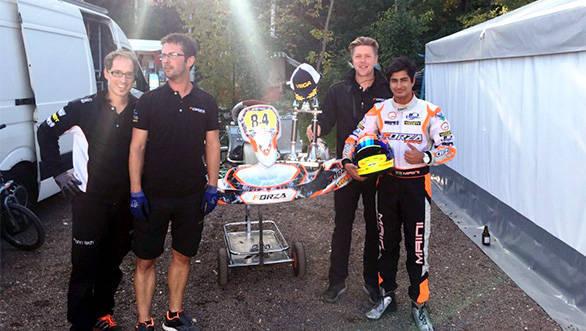 German Karting Championship Kush Maini (1)