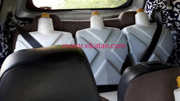 Mahindra-S101-Mahindra-XUV100-rear-seats-spied (1)