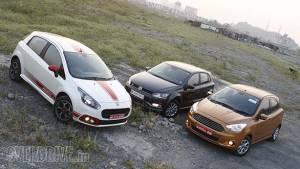 Comparo: Fiat Abarth Punto vs Volkswagen Polo GT TSI vs Ford Figo 1.5 AT
