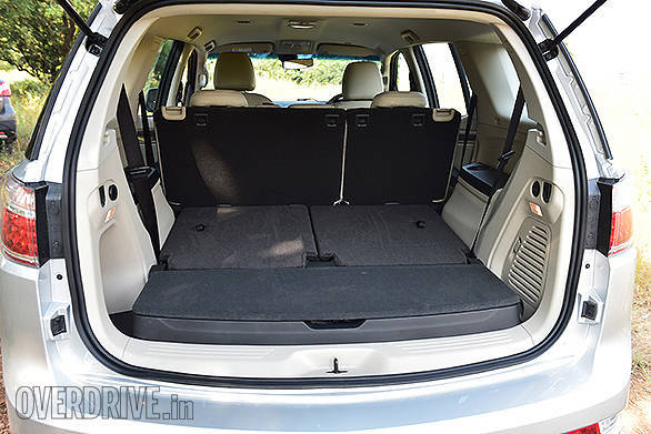Boot space is 205 liters with all seats up, 1830 liters with rear seats folded and 878 liters with 3rd row seat folded