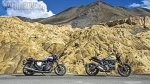 Comparo: Ducati Scrambler vs Triumph Bonneville in Ladakh