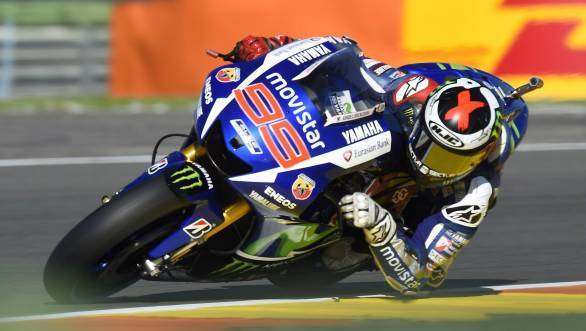 Jorge Lorenzo is on pole at Valencia, and he's gunning for the 2015 MotoGP title!