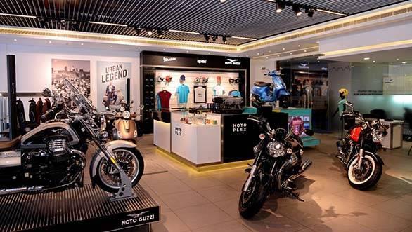 The Motoplex houses Aprilia, Moto Guzzi and Vespa brands