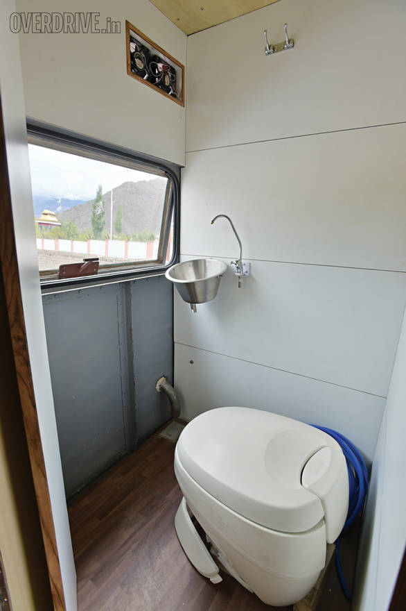 An onboard toilet is reserved for lady passengers or if the weather outside is particularly nasty