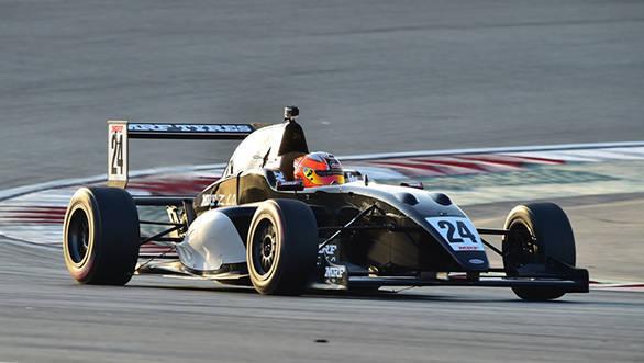 Alessio Picariello in action in Dubai MRF Challenge