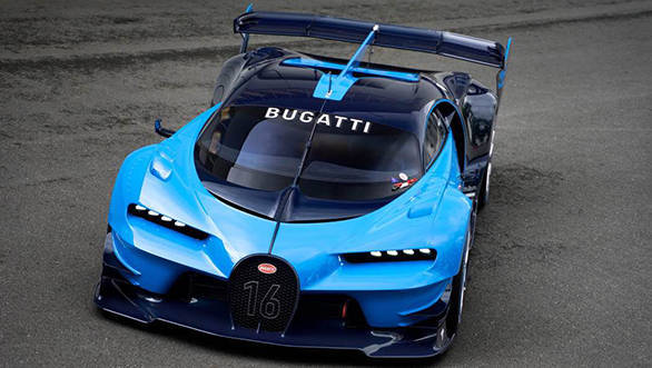 The design takes most of its cues from Bugatti's Vision Gran Turismo Concept that was shown at the 2015 Frankfurt Motor Show