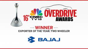 CNBC-TV18 OVERDRIVE Awards 2016: Bajaj wins Two-wheeler Exporter of the Year Award