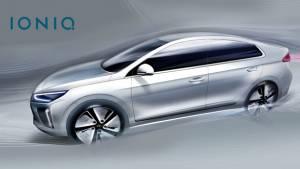 Hyundai Ioniq is a stylish hybrid sedan slated for 2016