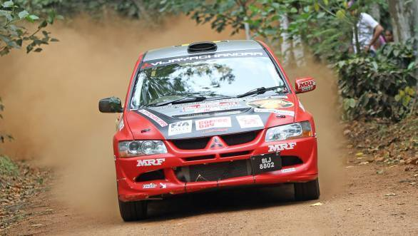 Lohitt Urs took the lead in the Asia Cup in his Mitsubishi Evo VIII