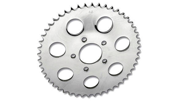 A bigger rear sprocket will mean harder acceleration at the cost of top speed