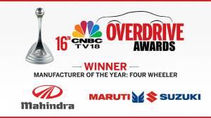 CNBC-TV18 OVERDRIVE Awards 2016: Maruti Suzuki and Mahindra jointly win Manufacturer of the Year Four-wheeler award