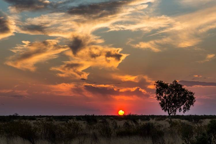 Sunsets in the outback are really scenic
