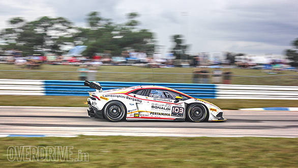 Very few machines offer aural and visual drama of a flame spitting Lamborghini race car