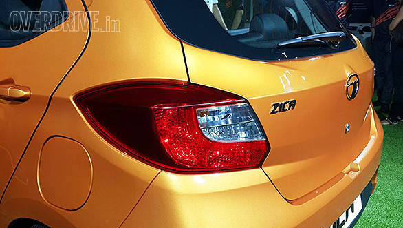 At the rear, the Tata Zica has a similar profile to the Hyundai Grand i10 complete with reverse parking sensors