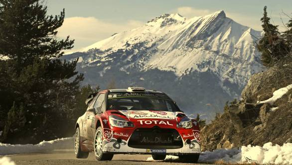 Kris Meeke proved to be something of a surprise in his privately entered Citroen, matching Ogier's pace in the initial stages of the rally