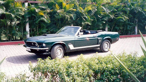 1969 Ford Mustang Convertible that was used in the Hindi film Bluffmaster