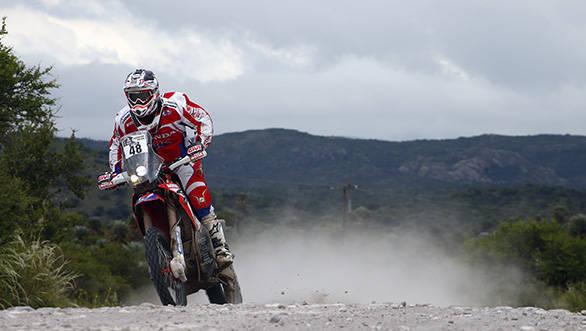 48  BRABEC RICKY (usa) HONDA action during the Dakar 2016 Argentina,  Bolivia, Etape 12 / Stage 12,  San Juan - Villa Carlos Paz,  from  January 15, 2016 - Photo Frederic Le Floc'h / DPPI