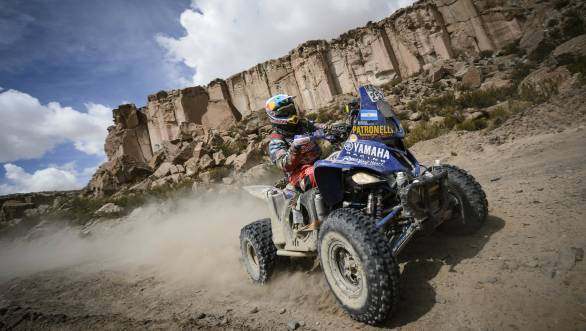 Two-time Dakar winner Marcos Patronelli took victory in the quad class in Stage 4 of Dakar 2016