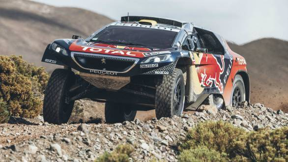 Stephane Peterhansel en route victory in the fourth stage of the Dakar 2016